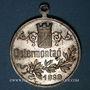 Coins Alsace. Colmar. Cortège historique. 1898. Médaille en laiton argenté.  29 mm