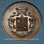 Coins Alsace. Colmar. Jardins et association viticole de Colmar. 1874. Médaille cuivre. 51,13 mm