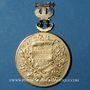 Coins Alsace. Colmar. Orphéon. 30e anniversaire de sociétaire. Méd. arg doré avec attache en forme de lyre