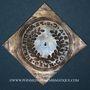 Coins Alsace. Colmar. Prix d'école. 1716. Argent, carrée, uniface. 36,24 x 36,78 mm