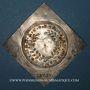 Coins Alsace. Colmar. Prix d'école. 1717. Argent, carrée, uniface. 36,24 x 36,78 mm