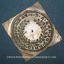 Coins Alsace. Colmar. Prix d'école. 1719. Argent, carrée, uniface. 34,29 x 33,15 mm