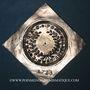 Coins Alsace. Colmar. Prix d'école. 1723. Argent, carrée, uniface. 43,64 x 43,18 mm