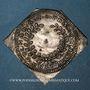 Coins Alsace. Colmar. Prix d'école. 1735. Argent, carrée, uniface. 43,64 x 43,18 mm