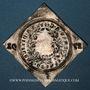 Coins Alsace. Colmar. Prix d'école. 1791. Argent, carrée, uniface. 33,52 x 34,09 mm