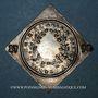 Coins Alsace. Colmar. Prix d'école. 1792. Argent, carrée, uniface. 32,78 x 33,47 mm
