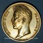 Coins Alsace. Colmar. Visite de Charles X. 1828. Médaille argent doré. 35 mm. Gravé par Gayrard