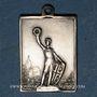 Coins Alsace. Dannemarie. Tournoi régional de gymnastique. 1909. Médaille bronze argenté. 16,90 x 22,75 mm