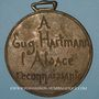 Coins Alsace. Eugène Hartmann – Reconnaissance de l'Alsace. 1899. Médaille bronze coulée