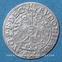 Coins Alsace. Evêché de Strasbourg. Charles de Lorraine (1592-1607). 3 kreuzers 1602. Saverne