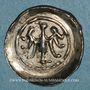 Coins Alsace. Evêché de Strasbourg. Epoque des Hohenstaufen (1138-1284). Denier. Offenbourg vers 1247-1273