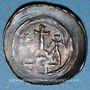 Coins Alsace. Evêché de Strasbourg. Epoque des Hohenstaufen (1138-1284). Denier. Strasbourg vers 1230-1250