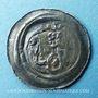 Coins Alsace. Evêché de Strasbourg. Epoque des Hohenstaufen (1138-1284). Denier. Strasbourg vers 1250-1270