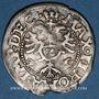 Coins Alsace. Evêché de Strasbourg. Jean de Manderscheid (1569-1592). 2 kreuzers 1574. Molsheim