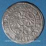 Coins Alsace. Evêché de Strasbourg. Jean de Manderscheid (1569-1592). 3 kreuzers 1578. Molsheim