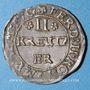 Coins Alsace. Evêché de Strasbourg. Léopold Guillaume (1625-1662). 2 kreuzers. Molsheim (1627-1630)