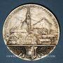 Coins Alsace. Exposition de Thann. 1923. Médaille en bronze argenté. 50,41 mm