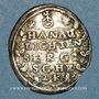 Coins Alsace. Hanau-Lichtenberg. Frédéric Casimir (1641-1685). 2 kreuzers 1664. Bouxwiller