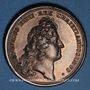 Coins Alsace. Huningue. Les Fortifications. 1680. Médaille cuivre. 41 mm. Gravée par Mauger.