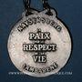 Coins Alsace. Kaysersberg. Albert Schweiter (1875-1965). Médaille métal blanc. 38,9 mm