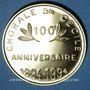 Coins Alsace. Kogenheim. Chorale Ste Cécile 100e anniversaire. 1994. Médaille laiton. 30 mm