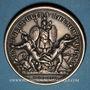 Coins Alsace. Les Allemands chassés de l'Alsace. 1675. Médaille argent. 41,47 mm. Refrappe