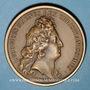 Coins Alsace. Les Allemands chassés de l'Alsace. 1675. Médaille bronze. 41,31 mm. Refrappe