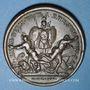 Coins Alsace. Les Allemands chassés de l'Alsace. 1675. Médaille cuivre