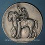 Coins Alsace. Libération de Mulhouse. 17 novembre 1918. Médaille argent. 68,08 mm. Gravée par M. Damman