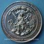 Coins Alsace-Lorraine. Guerre de 1870-1871. Médaille en  étain. 68,6 mm. Gravée par C. Graf.
