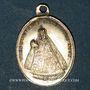 Coins Alsace. Marienthal. Couronnement de l'image de la Vierge. 1859. Médaille laiton argenté