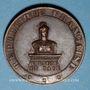 Coins Alsace. Marmoutier. Ignace Hoff dit le Sergent Hoff. 1879. Médaille cuivre. 30,79 mm. Signée A. B