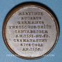 Coins Alsace. Martin Bucer (1491-1551). 1824. Médaille bronze. 28,25 mm. Gravée par Jean Dassier