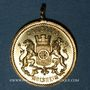 Coins Alsace. Molsheim. 5e Rassemblement des chorales d'Alsace-Lorraine. 1894. Médaille laiton avec œillet