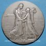 Coins Alsace. Mulhouse. 100e anniversaire de la réunion à la France. 1898. Médaille en argent. 68 mm
