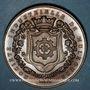 Coins Alsace. Mulhouse. 50e anniversaire de la fondation de la Société Industrielle. 1876. Médaille bronze