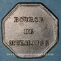 Coins Alsace. Mulhouse. Bourse de Mulhouse - Jeton de courtier. Bronze. Octogonal, 23,10 x 23,04 mm