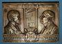 Coins Alsace. Mulhouse. Centenaire de la fabrique de draps Dollfus & Noack 1911. Plaquette bronze 50x70 mm