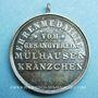 Coins Alsace. Mulhouse. Chorale  Mülhauser-Kränzchen (1895). Médaille en argent. 29 mm