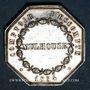 Coins Alsace. Mulhouse. Comptoir d'Escompte. 1854. Jeton de présence en argent