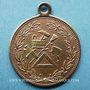 Coins Alsace. Mulhouse. Consécration du drapeau de la Caisse de Secours des Maçons. 1893. Laiton. 28,7 mm