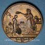 Coins Alsace. Mulhouse. Course cycliste de 100 km. 1892. Bronze. 42 mm