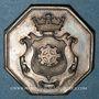 Coins Alsace. Mulhouse. Ecole primaire – Prix d'honneur (vers 1850-1860). Jeton. Argent, octogonal