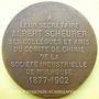 Coins Alsace. Mulhouse. Hommage à Albert Scheurer. 1902. Médaille en bronze. 50,4 mm. Gravée par L. Bottée
