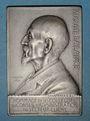 Coins Alsace. Mulhouse. Hommage à Auguste Lalance. 1908. Plaquette argent uniface. 49,81 x 72,80 mm