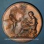 Coins Alsace. Mulhouse. Hommage à Jean Dollfus. 1882. Médaille bronze. 70,30 mm