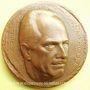 Coins Alsace. Mulhouse. Hommage à Meybeck Jean. 1975. Médaille en br. 68,8 mm. Gravée par Charlotte Engels