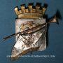 Coins Alsace. Mulhouse. Insigne de la Fanfare du Cercle Mulhousien. Bronze cuivré, argenté et doré