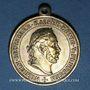 Coins Alsace. Mulhouse. Société des Anciens combattants - 10e anniv. 1887. Médaille laiton. 27,37 mm