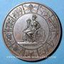Coins Alsace. Mulhouse. Société Industrielle. 1825. Médaille en bronze. 50 mm